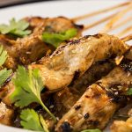 Pinchos de pollo especiados